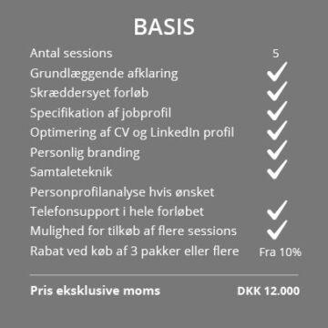Outplacement priser - basis forløb